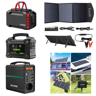 ENKEEO S220 222Wh Rechargeable Solar Generator Power Station für Notfall-Camping