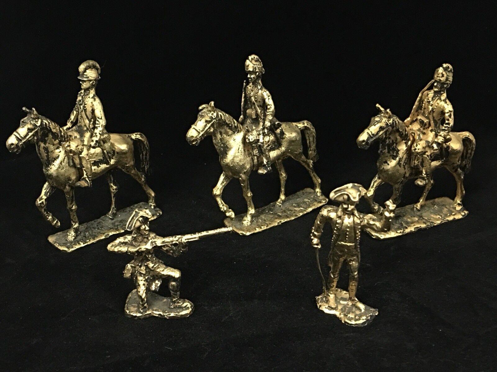 5. jahrgang Gold tone metall revolutionskrieg spielzeugsoldaten abnehmbaren kavallerie
