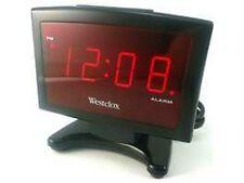 "WESTCLOX 70014 .9"" Plasma LED Alarm Clock"