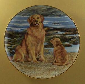 Golden Retrievers DOCKSIDE RETRIEVER Plate Dog Patricia Bourque Danbury Mint