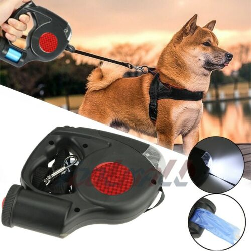 Dog Leash Retractable Walking Collar For Large Small Pet with Lock Nylon 16 Ft