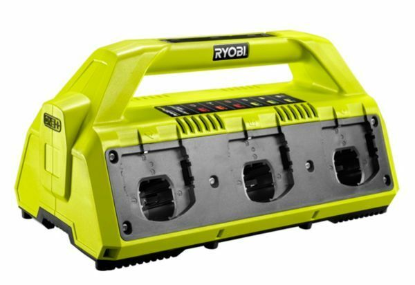 Ryobi RC18627 Ladestation für bis zu 6 Akkus 18 V ONE+ Akkuladegerät Ladegerät