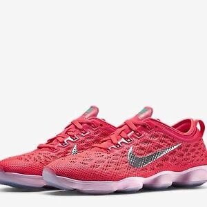 Nike Women's Zoom Fit Agility Training Shoes Sz 12 NEW 684984 600 HyperPunch