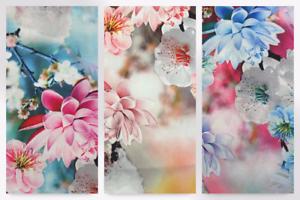 EM-Peachskin364-Pink-M Floral Digital Print Microfibre Dress Fabric