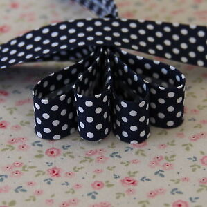 4m-18mm-Navy-with-White-Polka-Dots-Bias-Binding-Edging-Trim