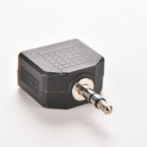 3-5mm-Stereo-Y-Splitter-Audio-Adapter-1-8-034-Male-Plug-to-2-Dual-Female-Jacks-JN