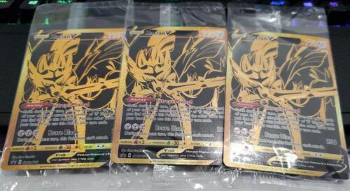Premium PROMO 1x Pokemon SEALED Zacian V GOLD Mint New SWSH076
