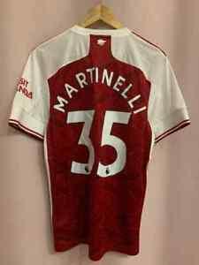ARSENAL LONDON 2020/2021 HOME FOOTBALL SHIRT JERSEY SZ M GABRIEL MARTINELLI #35