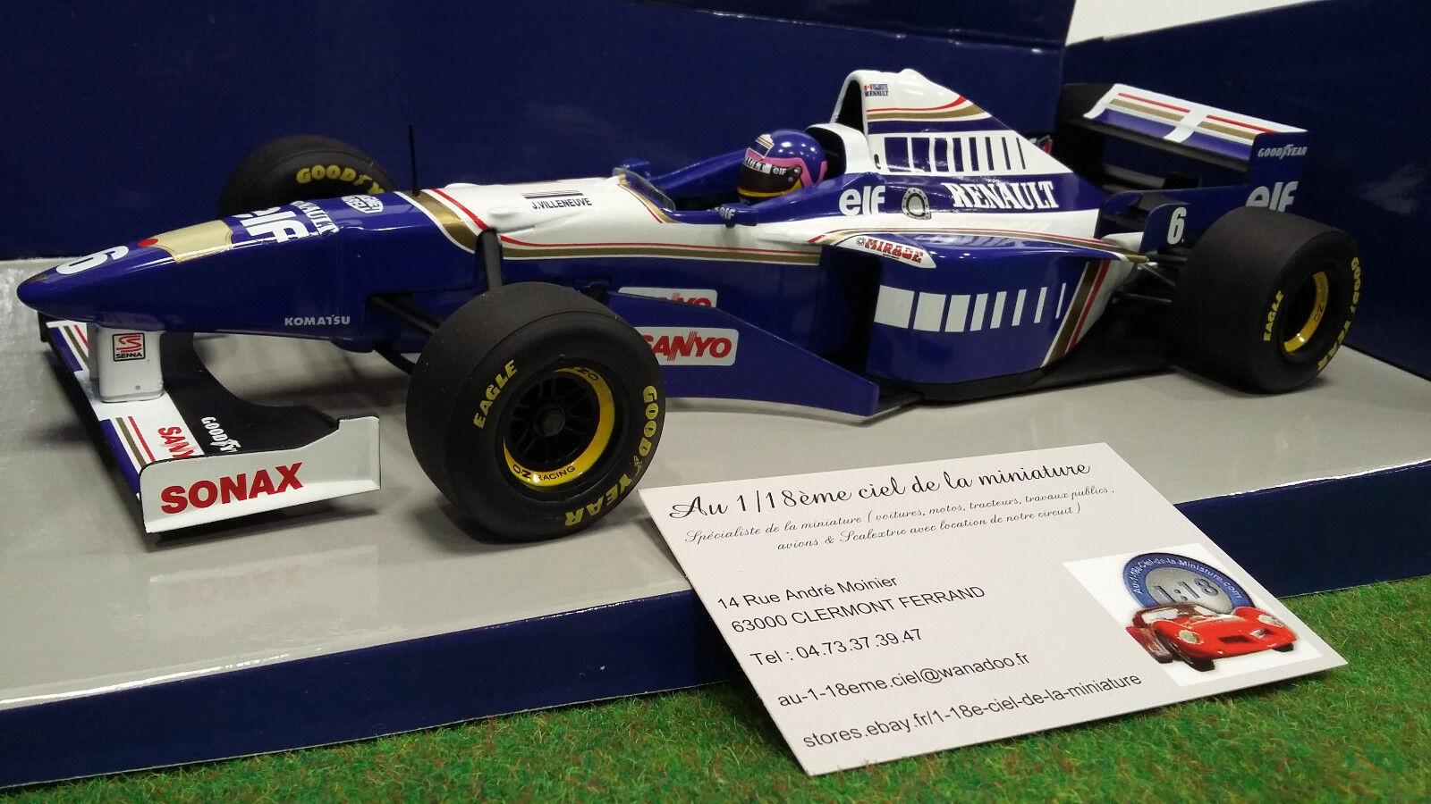 F1 WILLIAMS RENAULT FW18 VILLENEUVE 1 18  MINICHAMPS 180960006 voiture miniature