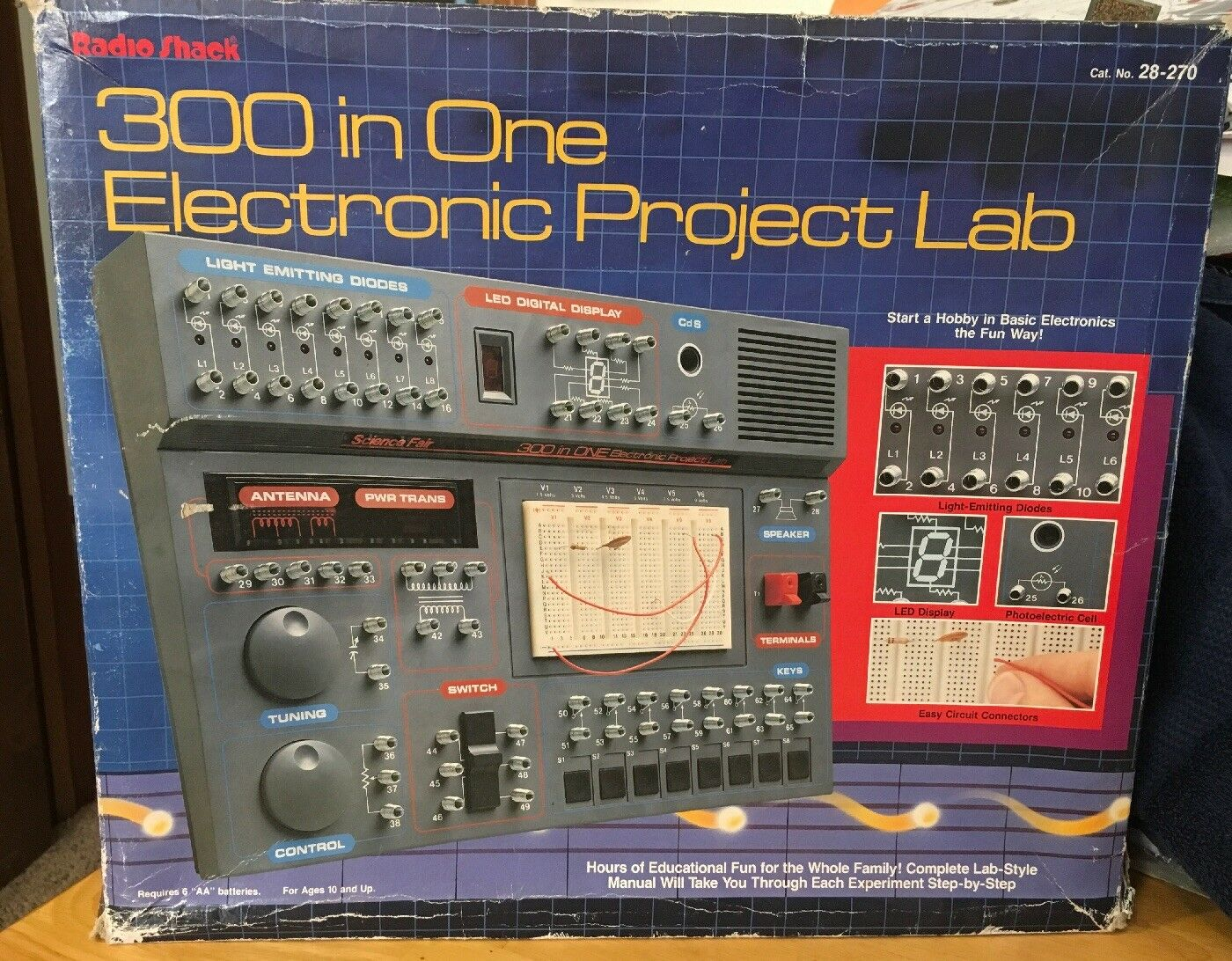 Radio Shack 28270 Science Fair 300 In One Electronic Project Lab Circuit I Manual Stem Technology Ebay