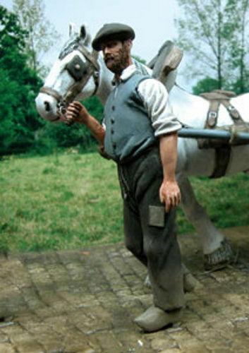 1//35 échelle Civil holding horse non-inclus cheval civil menant un cheval