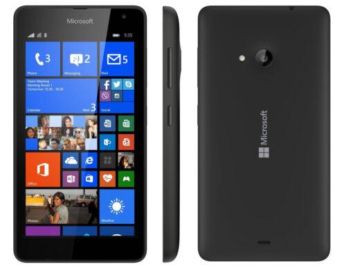 1 of 1 - Nokia Lumia 535 Black Smartphone (Unlocked) 8Gb Microsoft Windows GRADE B