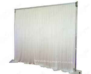 3mx3m White Pleated Wedding Backdrop Curtain For Sale