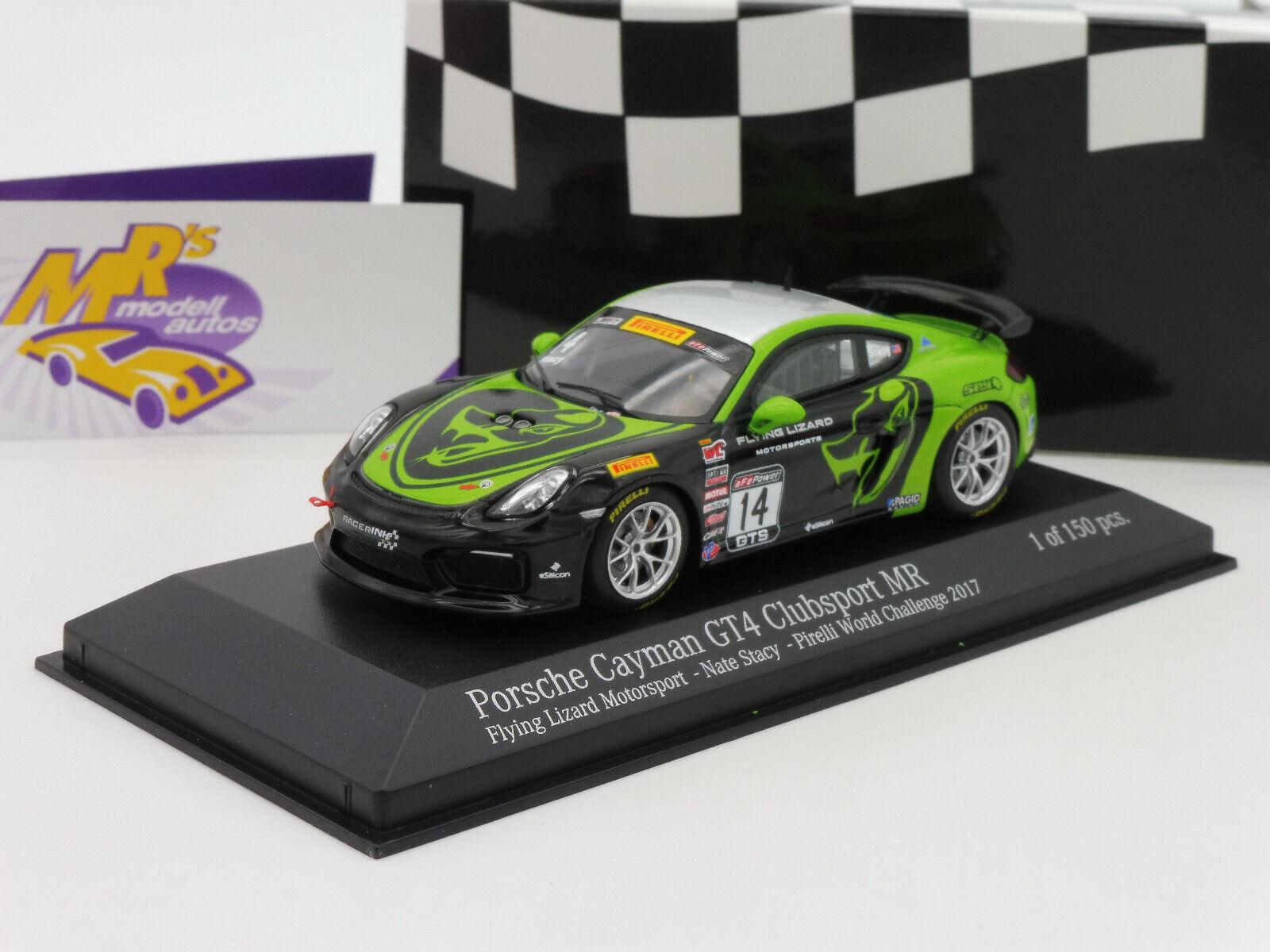 Minichamps 437171614   Porsche Cayman GT4 Clubsport No.14 Fliegening Lizard 1 43 NEU