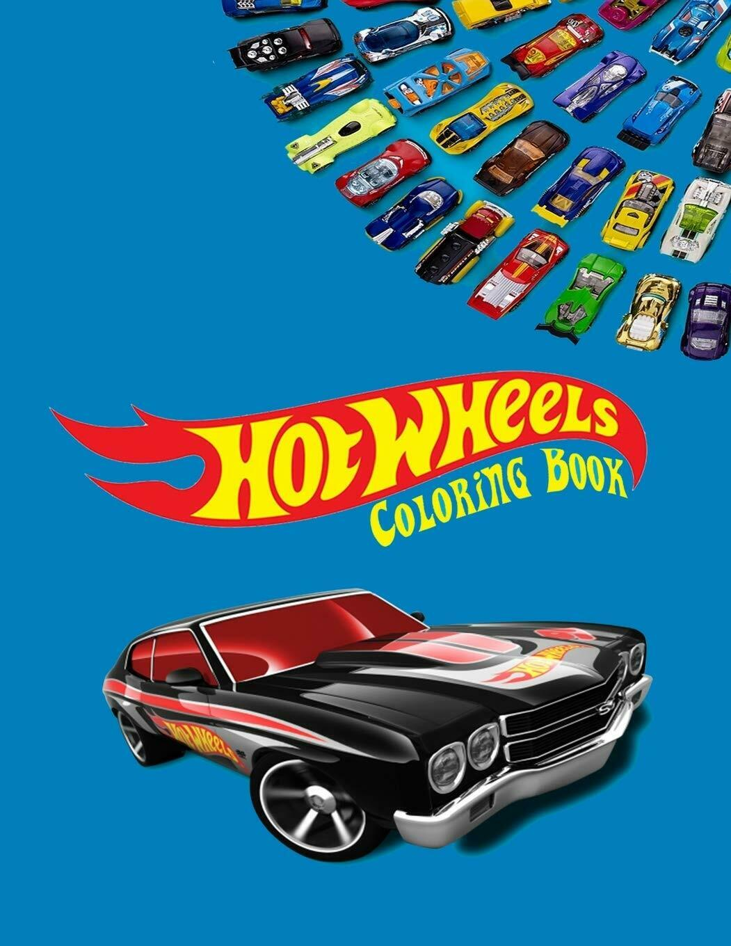 - Hot Wheels Coloring Book Coloring Book For Kids And Adults With