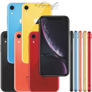 APPLE-IPHONE-XR-64GB-128GB-SCHWARZ-ROT-KORALLE-GELB-BLAU-WEIss-TOP-wenn-vorraetig