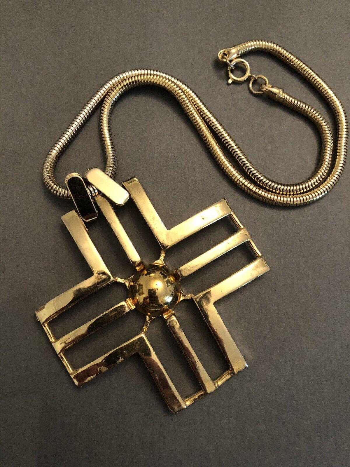 177- Modernist Pendant Necklace by Lanvin Paris V… - image 1