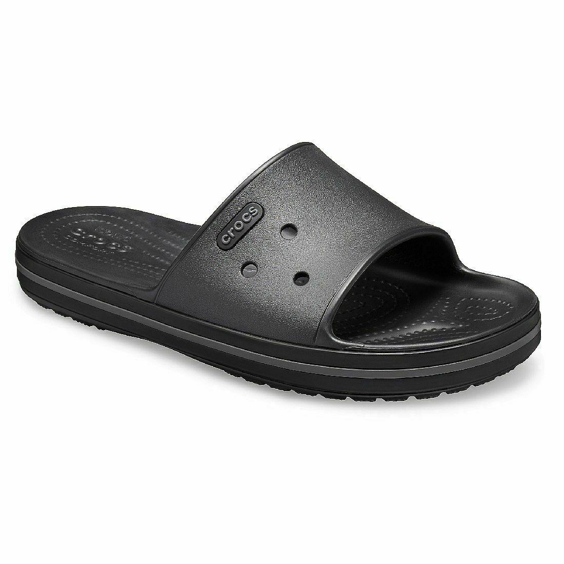 Crocs Crocband III Adults M8/W9 EUR 42-43 270mm Black Graphite Slide Sandals