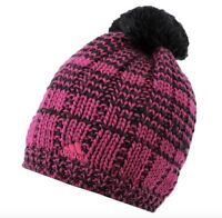 Adidas Damen Beanie Mütze Cap Schwarz oder Pink Wolle Neu mit Etikett