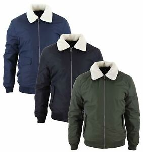 54c3fe359 Details about Men Pilot Jacket Fur Collar Bomber Original War Aviator  Flying Air Force Top Gun
