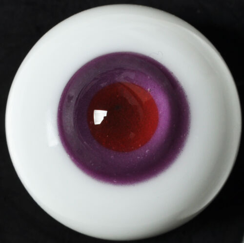 Nice Purple Pupil/&Red Iris 14mm Glass Eyes for Joint Reborn 1//4 BJD Dollfie