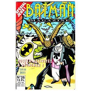 Batman-Magazine-Semic-N-26-Poster-Attache-Comics-DC