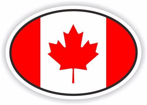 Canada Flag oval STICKER bumper decal car helmet laptop