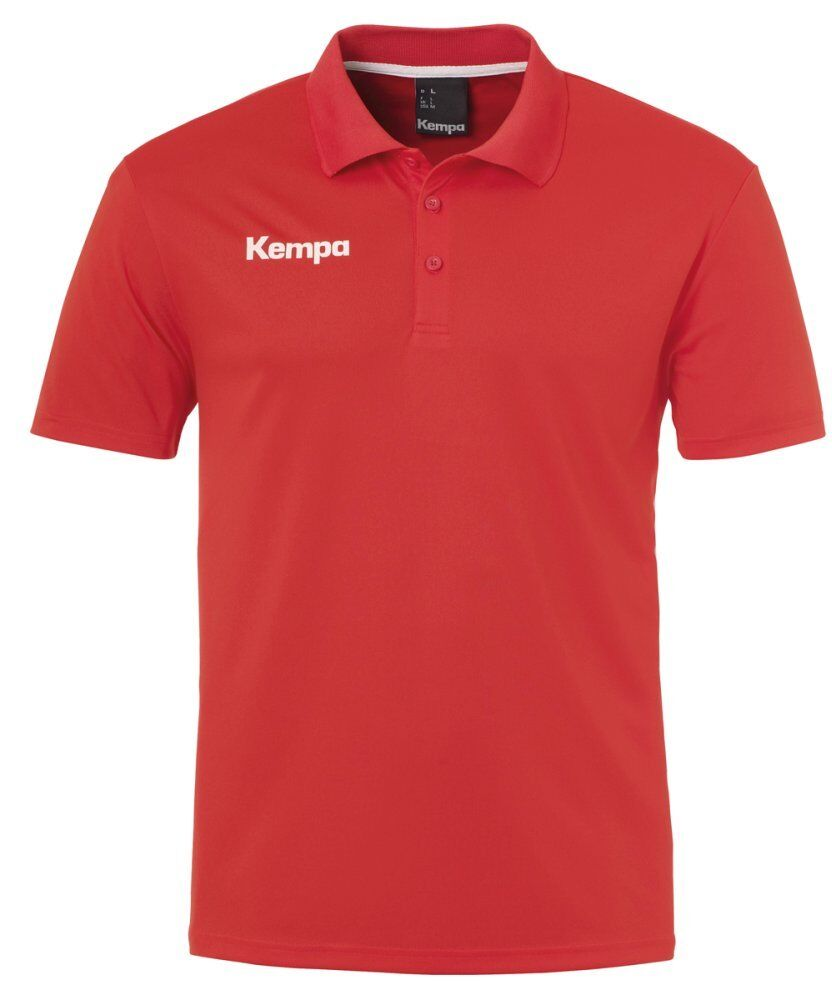 Kempa Mens Short Sleeve Polo Shirt Top Sports Training Handball Red