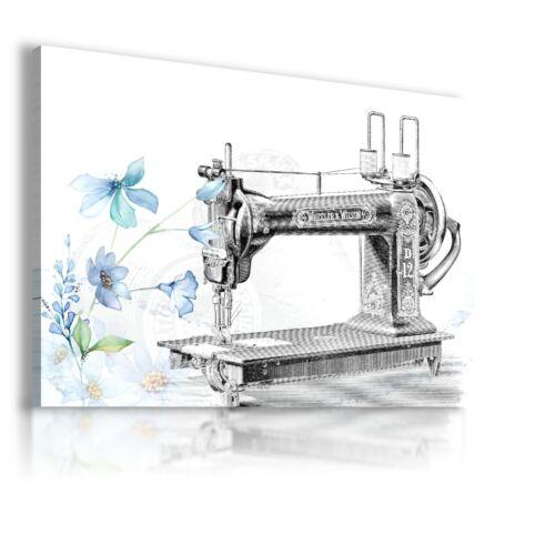 DRAWING SEWING MACHINE VINTAGE MODERN PRINT CANVAS WS277 UNFRAMED MATAGA.