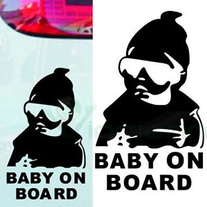 Adesivo-sticker-Baby-on-Board-bambino-bimbo-a-bordo-decalcomania-auto-tuning-BK
