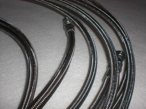 """closed loop 710 Braided Stainless 1//4/"""" ptfe 72/"""" long lines 4 pack for your CLE"""