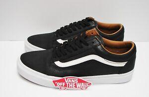 Vans Old Skool Premium Leather Black True White VN0A38G1II7 Men s ... ae3791f38