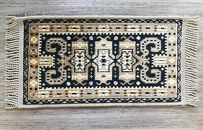 "Dollhouse Miniature 1:6 Scale Shirvan Carpet Rug Brown Belgium 13.5/"" x 6.5/"""
