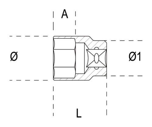 """Beta Tools 910A 3//8/"""" Square Drive Hexagon Socket 10mm009100010"""