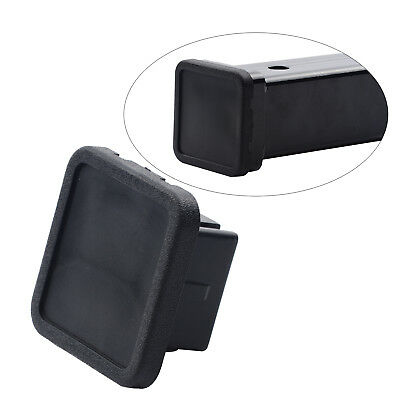 """1pc 2/"""" Hitch Receiver Cover Tralier Hauling Black Rubber Square Towing Cover"""