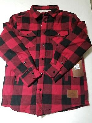 Cabin Fever Outfitters Boys Buffalo Plaid Sherpa Shirt Jacket Size 78 NWT | eBay