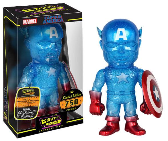 Capitán América-True azul 8  Hikari japonés Premium Figura de Vinilo (Funko)  NEW
