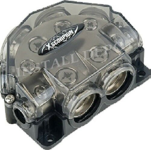 GROUND DISTRIBUTION BLOCK AMP 0 2 4 8 GAUGE IN OR OUT