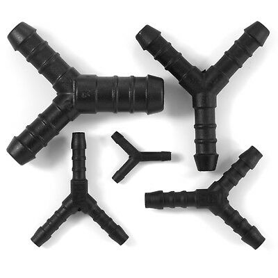 Y JOINER Piece 3 WAY PLASTIC BARBED CONNECTOR PIPE HOSE Reducer Air Fuel Water