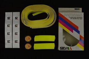 NOS-Silva-handlebar-tape-nastro-manubrio-Raleigh-ti-plugs-vintage-New-Lenkerband