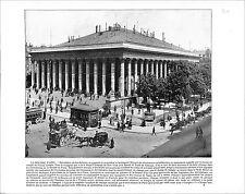 Palais Brongniart Bourse Paris France / OLD FATHER NILE VATICAN ROME 1897 PRINT