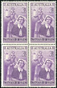 Australia-1955-SG287-3-d-Nursing-Profession-block-MNH