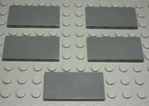 Lego Fliese 986 Kachel 2x4 new Dunkelgrau 5 Stück