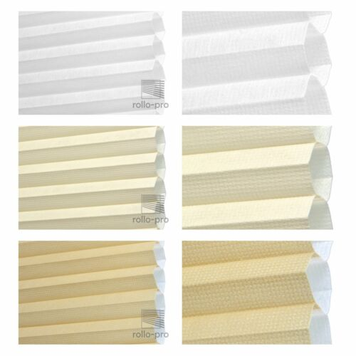Honeycomb Pleated duoplisse Folding Blind Folding Gates ► Calgary 8 stoffarbe 13 Aluminium Rails
