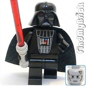 SW434 Lego Star Wars Darth Vader Minifigure with Red ...