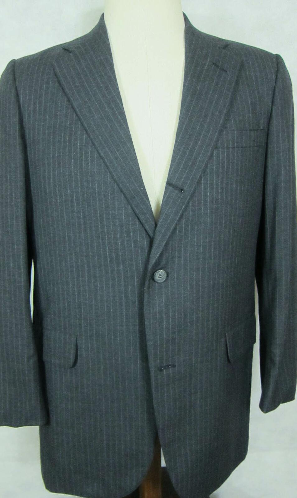 Pristine Vintage Brooks Brothers 346 Grau Streifen Wollanzug 41l 36w 36 X 30  | Good Design  | Qualitätskönigin  | Preiszugeständnisse