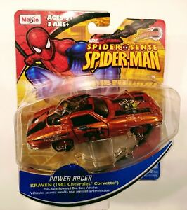 Maisto-Marvel-Spider-Sense-Spider-Man-Kraven-Motorized-Power-Racer-Diecast-Car