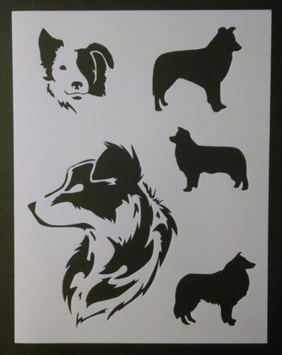 """Border Collies Collie Dog Dogs 8.5/"""" x 11/"""" Custom Stencil FAST FREE SHIPPING"""