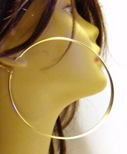 Image Is Loading Large Hoop Earrings 4 Inch Hoops Gold Or
