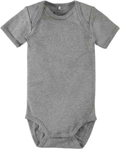 NAME IT 3er kurzarm Body Set schwarz grau weiß Größe 50 bis 98